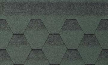 Битумная черепица Kerabit K+ Зелено-черный в Чернигове