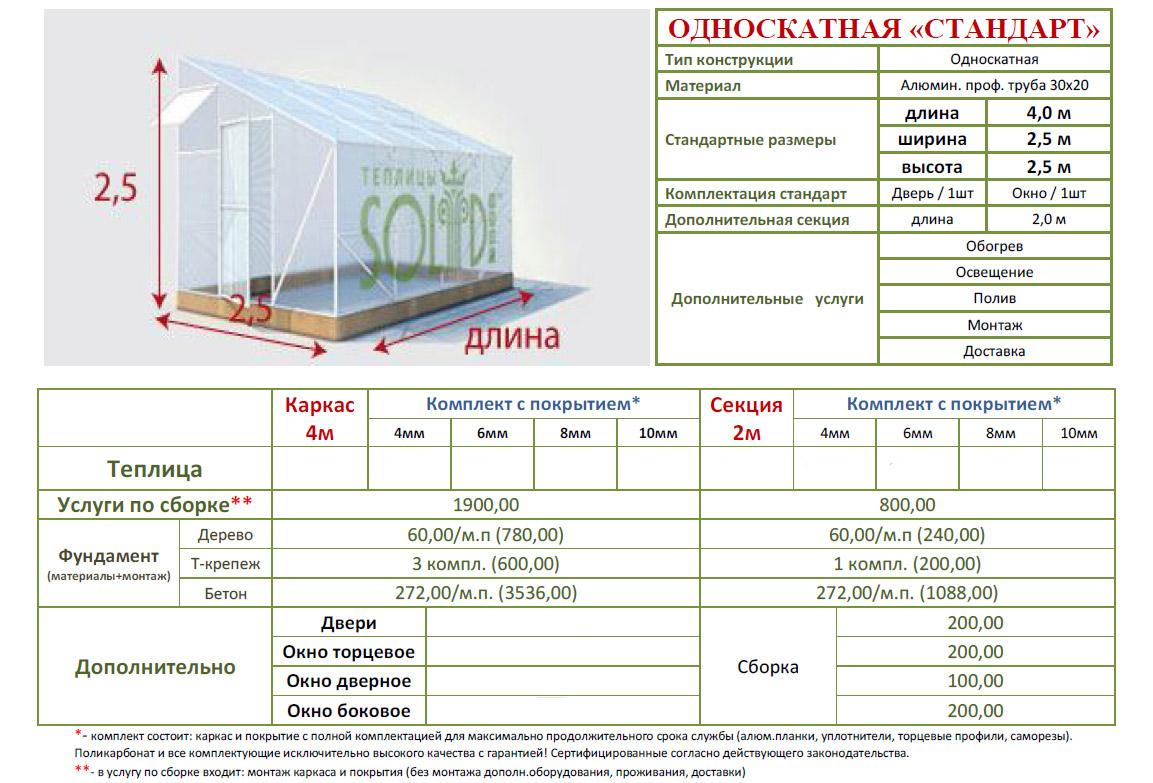 Расчет материала на теплицу из поликарбоната